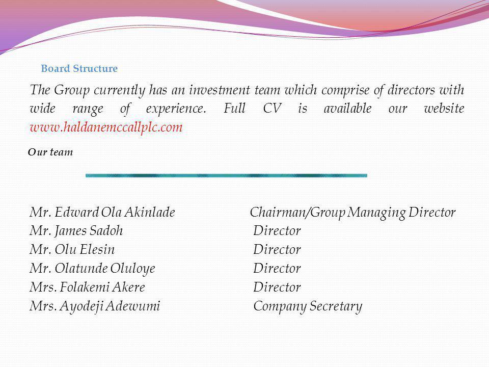Mrs. Ayodeji Adewumi Company Secretary