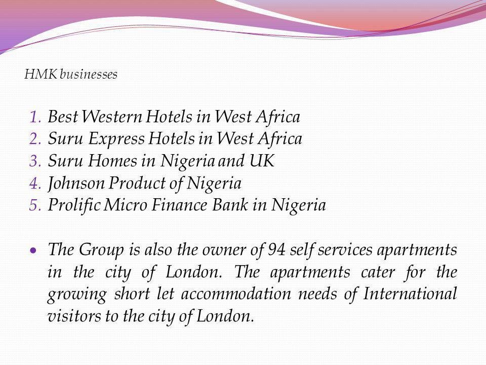 Best Western Hotels in West Africa Suru Express Hotels in West Africa