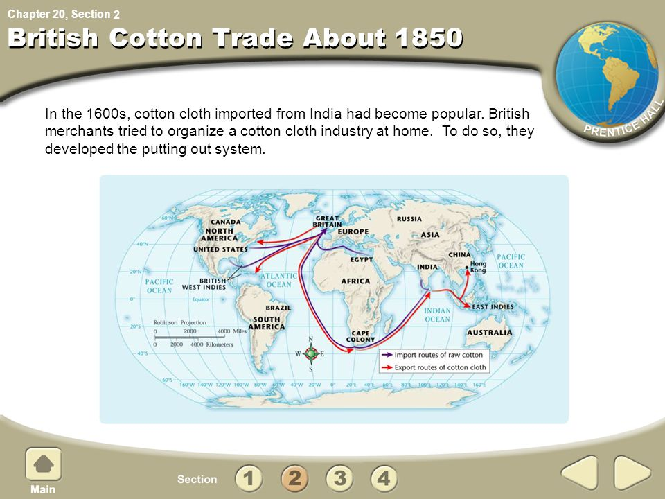 British Cotton Trade About 1850