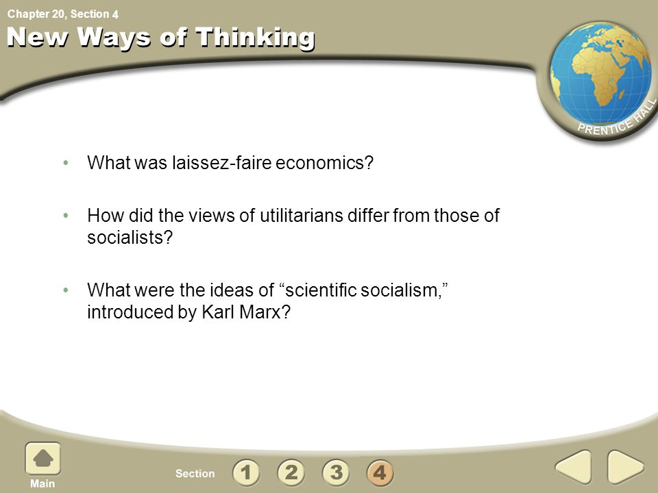 New Ways of Thinking What was laissez-faire economics