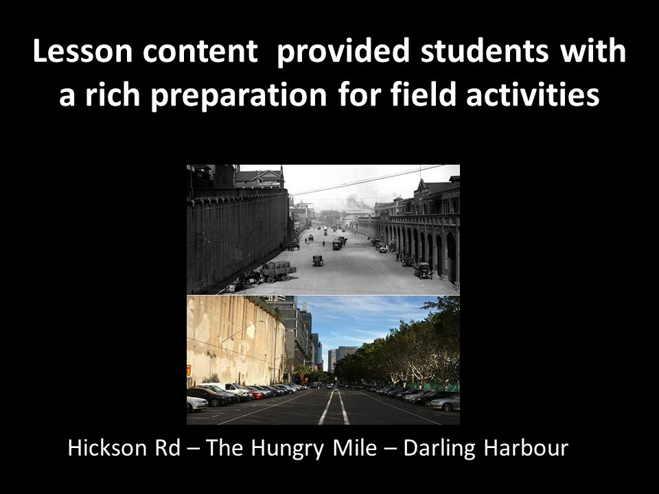 Lesson content provided students with a rich preparation for field activities