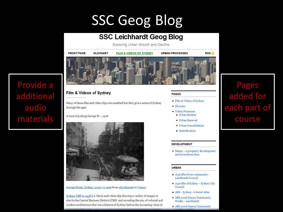 SSC Geog Blog Provide a additional audio materials