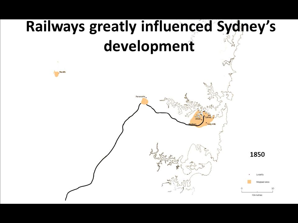 Railways greatly influenced Sydney's development