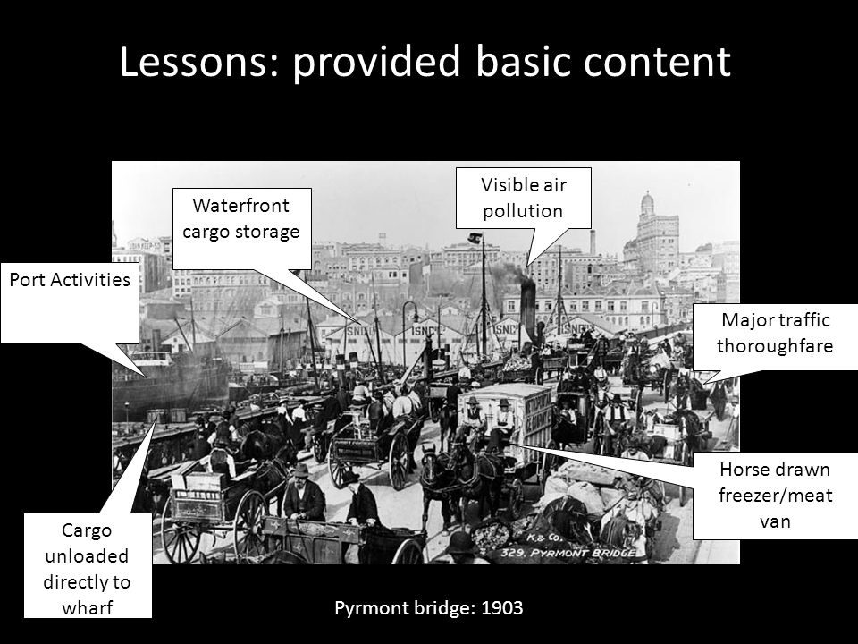 Lessons: provided basic content