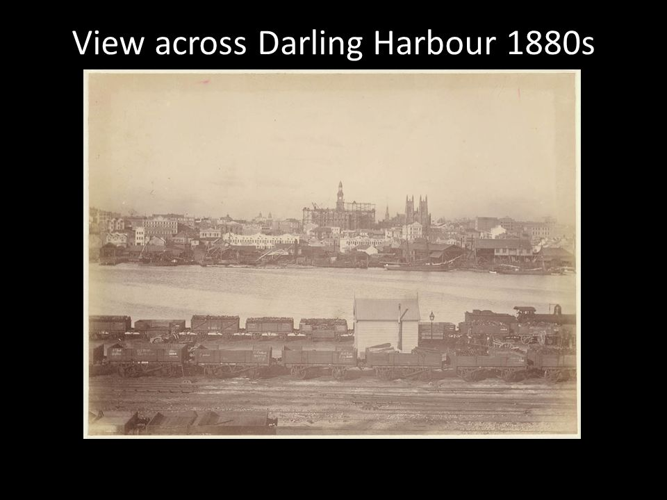 View across Darling Harbour 1880s