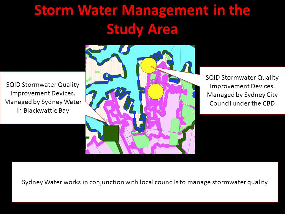 Storm Water Management in the Study Area