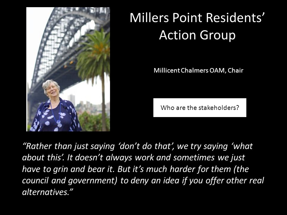Millers Point Residents' Action Group