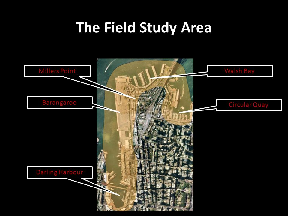 The Field Study Area Millers Point Walsh Bay Barangaroo Circular Quay