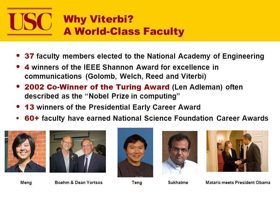 Why Viterbi A World-Class Faculty