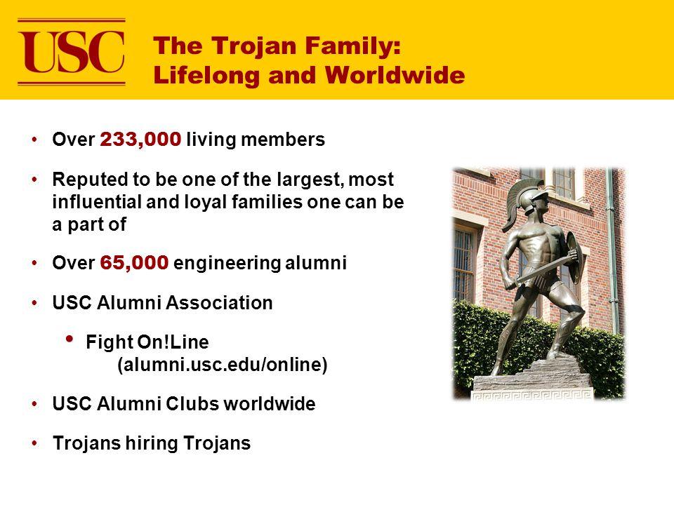 The Trojan Family: Lifelong and Worldwide
