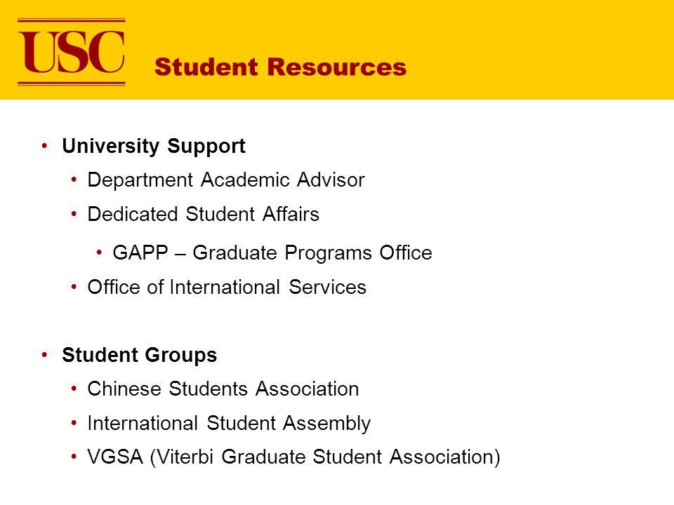 Student Resources University Support Department Academic Advisor
