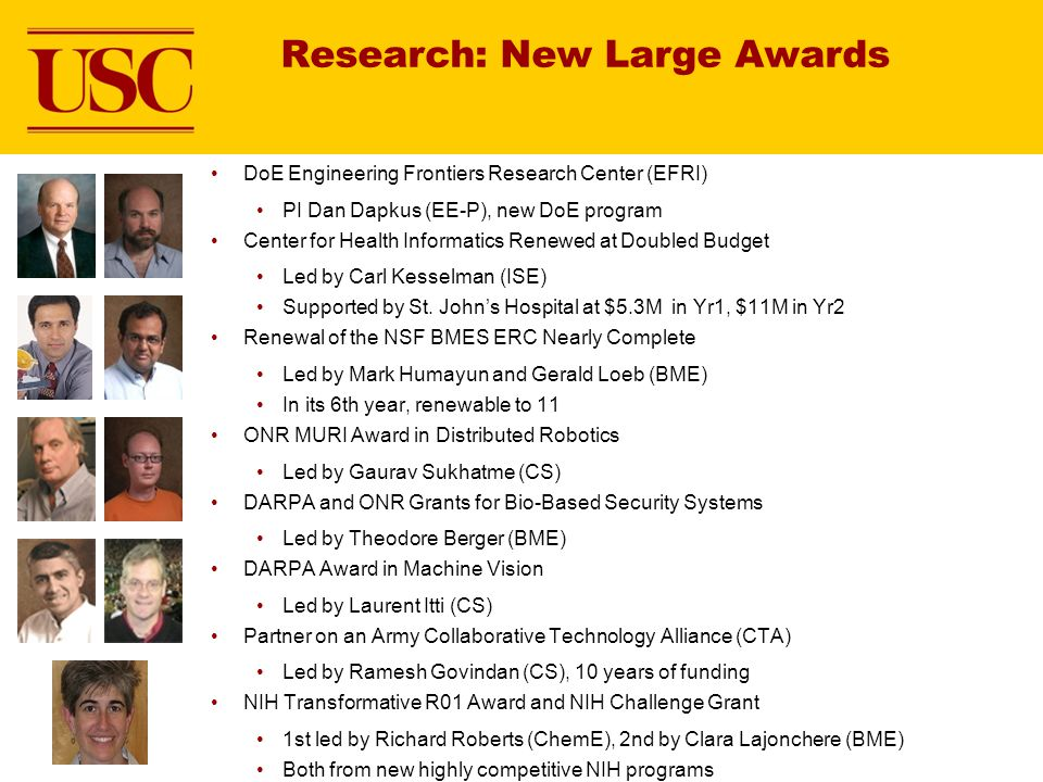 Research: New Large Awards