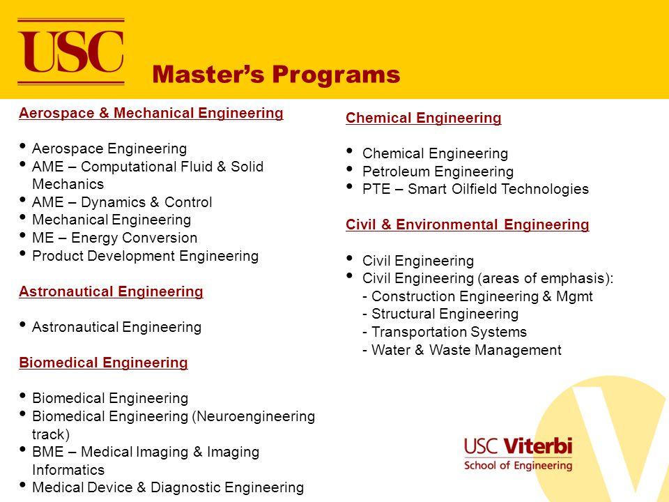 Master's Programs Aerospace & Mechanical Engineering