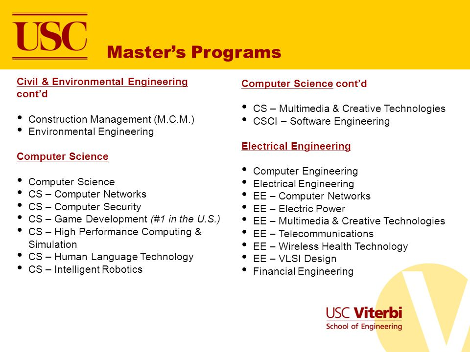 Master's Programs Civil & Environmental Engineering