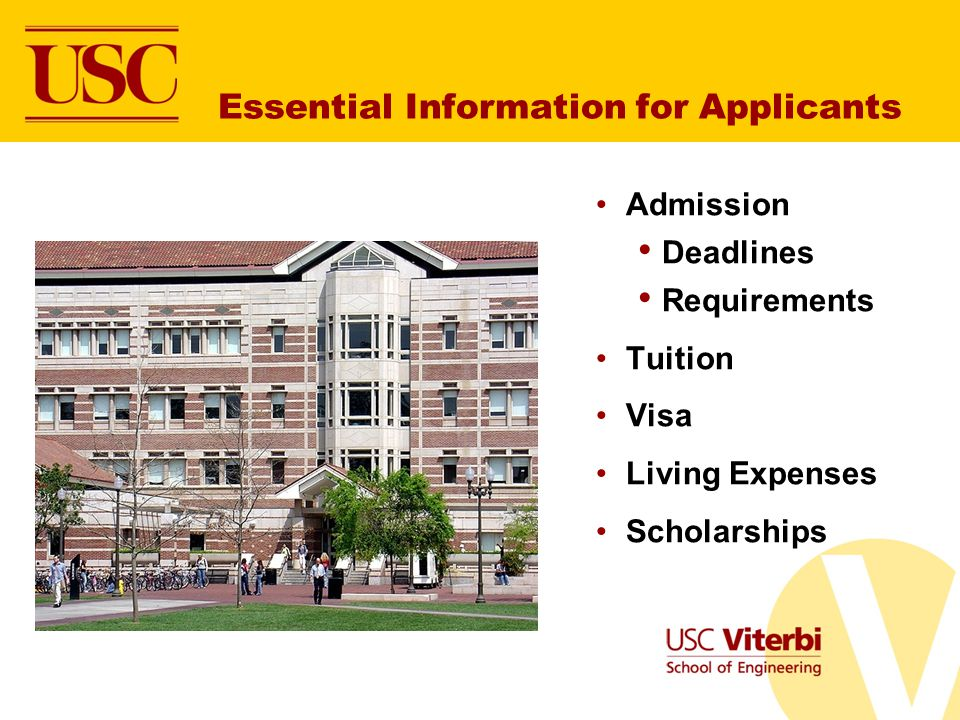 Essential Information for Applicants
