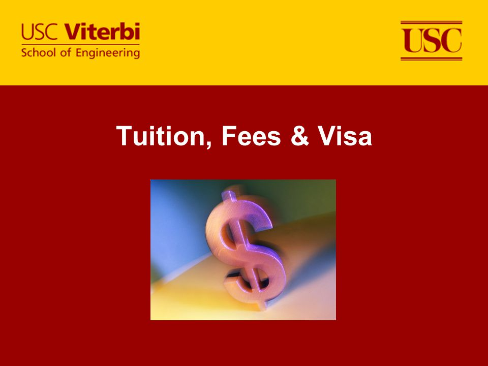 Tuition, Fees & Visa Dates need to be corrected.