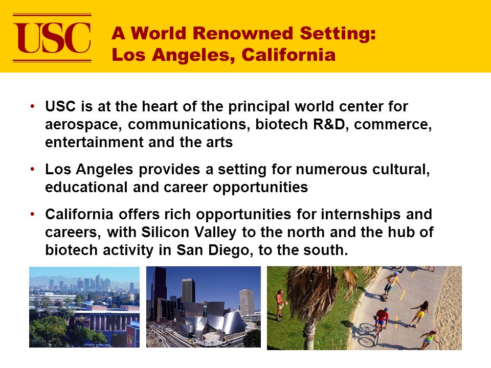 A World Renowned Setting: Los Angeles, California