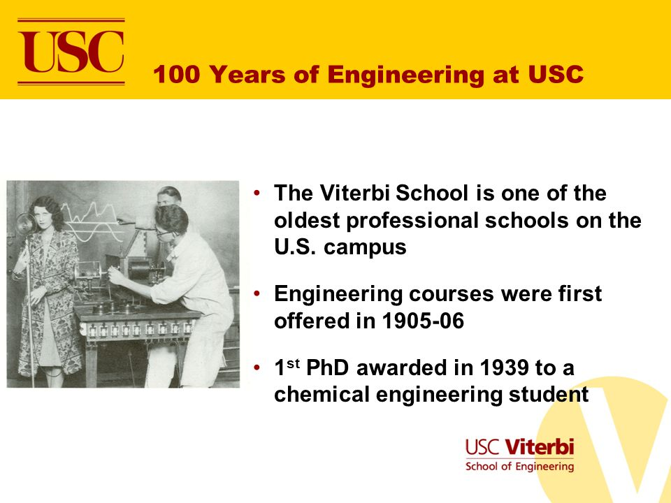 100 Years of Engineering at USC