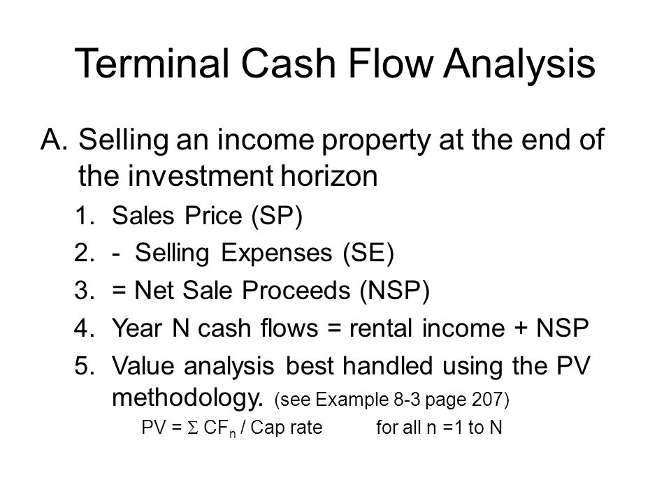 Terminal Cash Flow Analysis