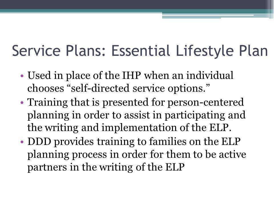 Service Plans: Essential Lifestyle Plan
