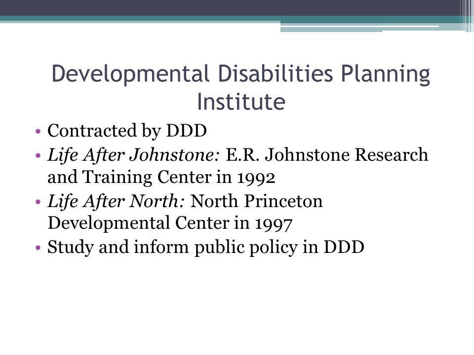 Developmental Disabilities Planning Institute