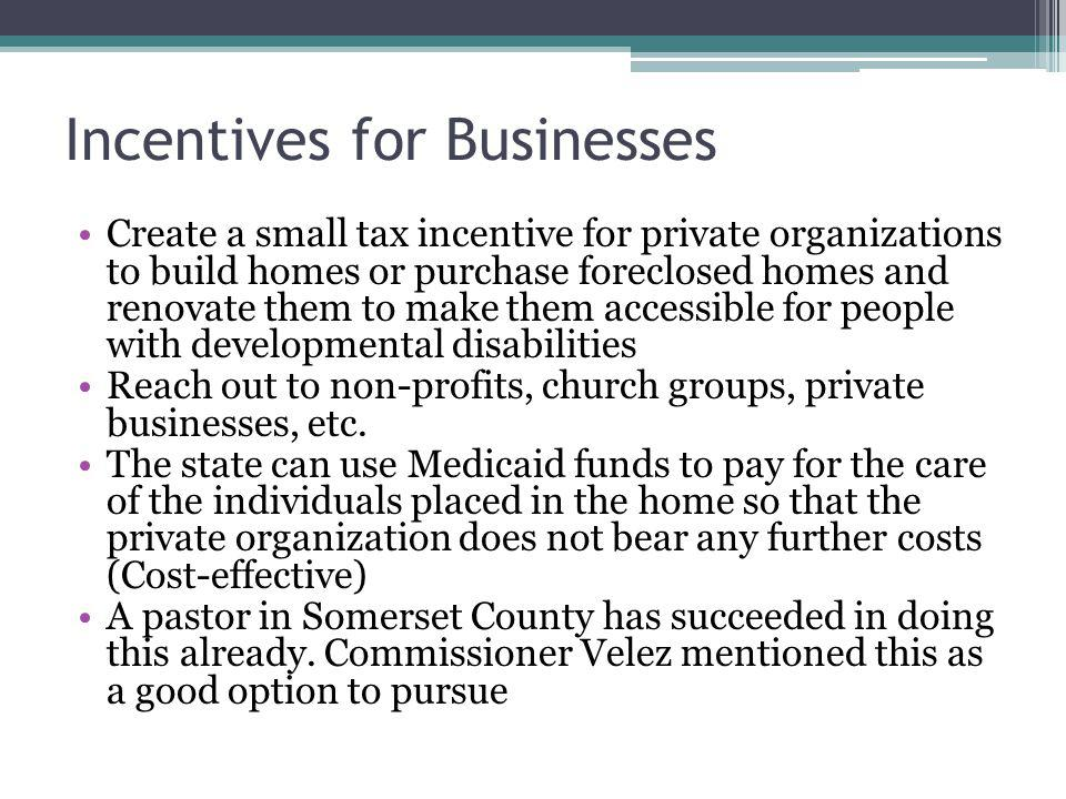 Incentives for Businesses