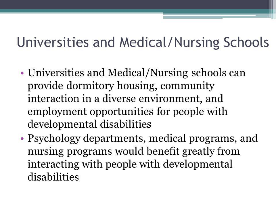 Universities and Medical/Nursing Schools