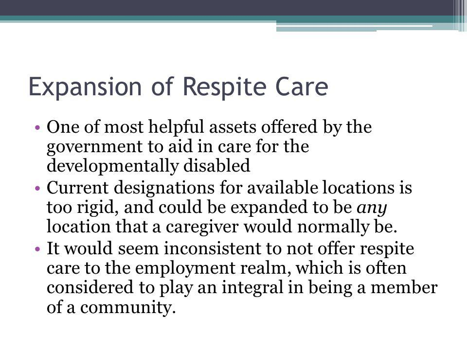 Expansion of Respite Care