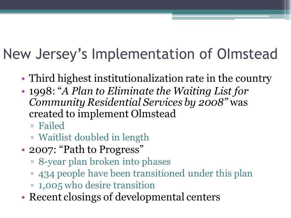 New Jersey's Implementation of OImstead