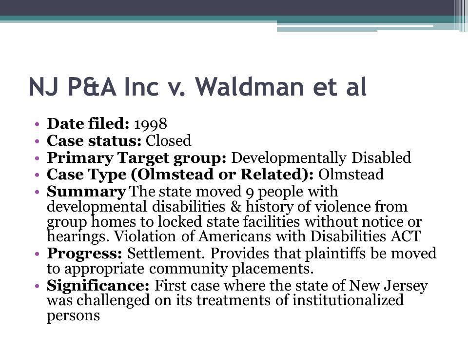 NJ P&A Inc v. Waldman et al