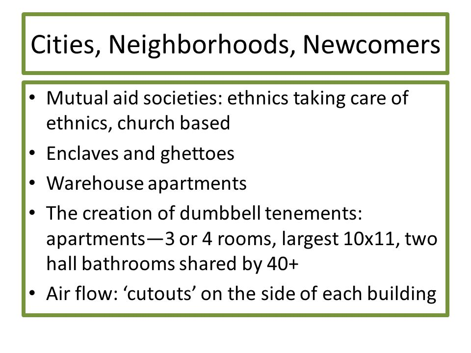 Cities, Neighborhoods, Newcomers