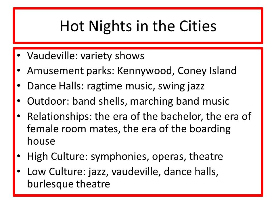 Hot Nights in the Cities