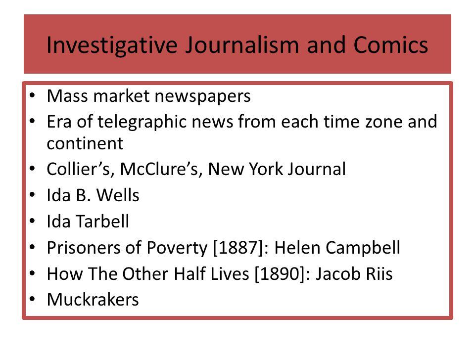 Investigative Journalism and Comics