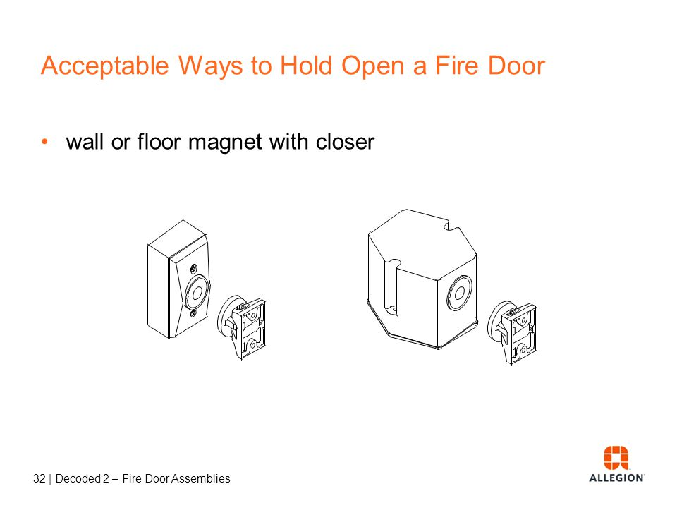 Acceptable Ways to Hold Open a Fire Door