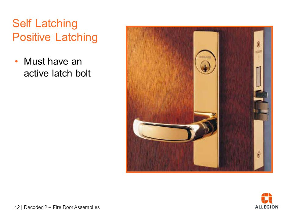 Self Latching Positive Latching