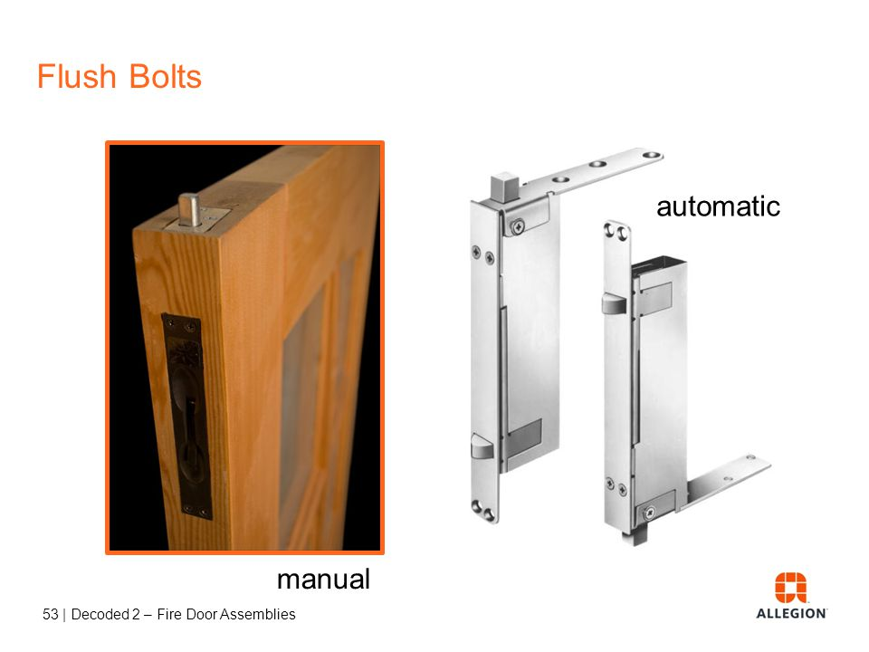 Flush Bolts automatic manual