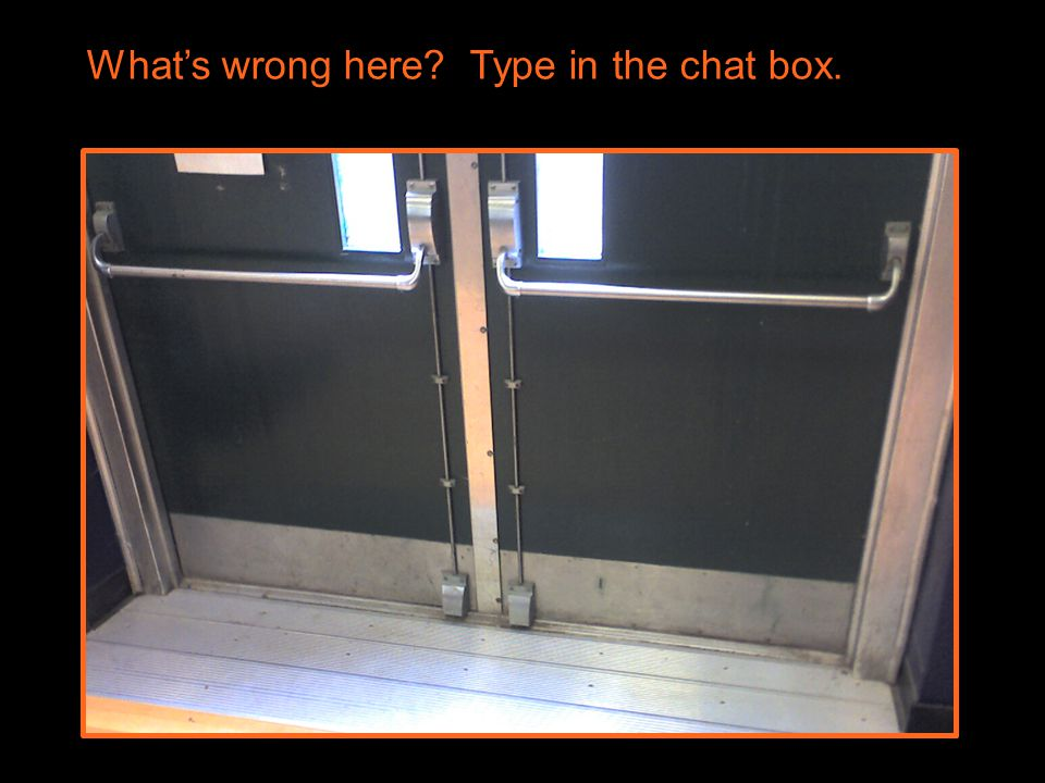 What's wrong here Type in the chat box.