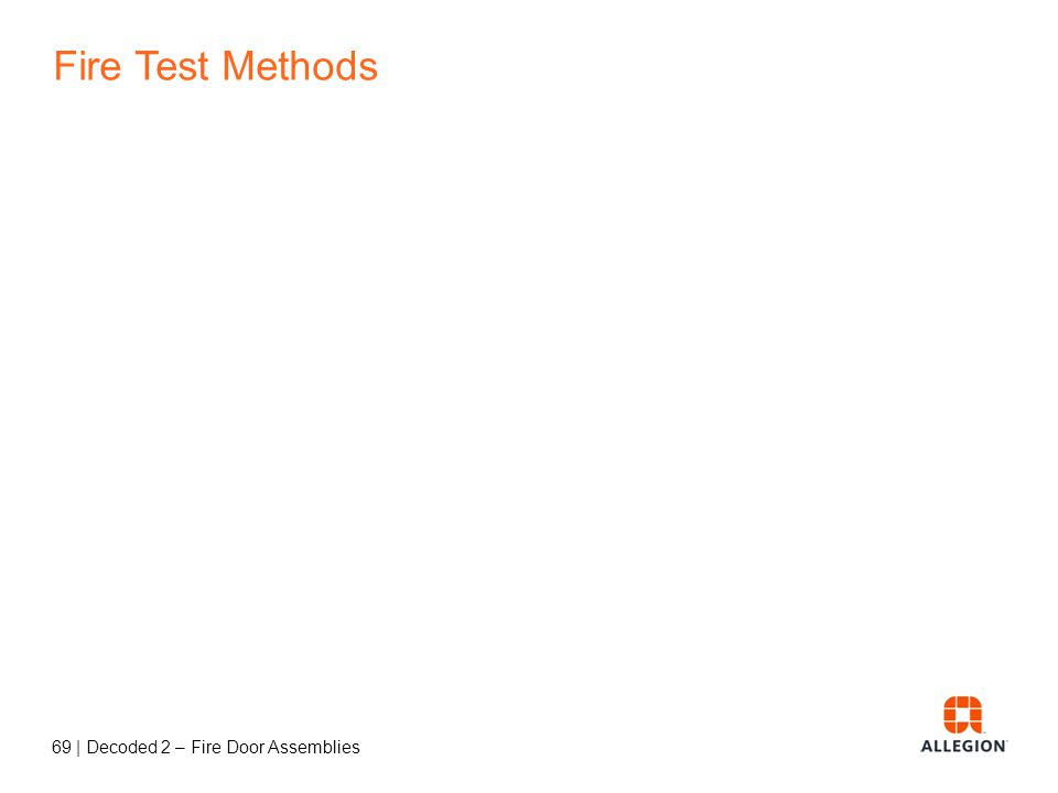Fire Test Methods