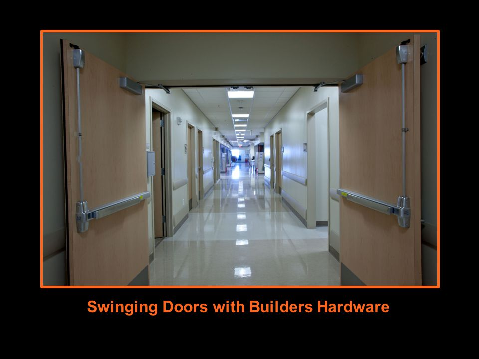 Swinging Doors with Builders Hardware