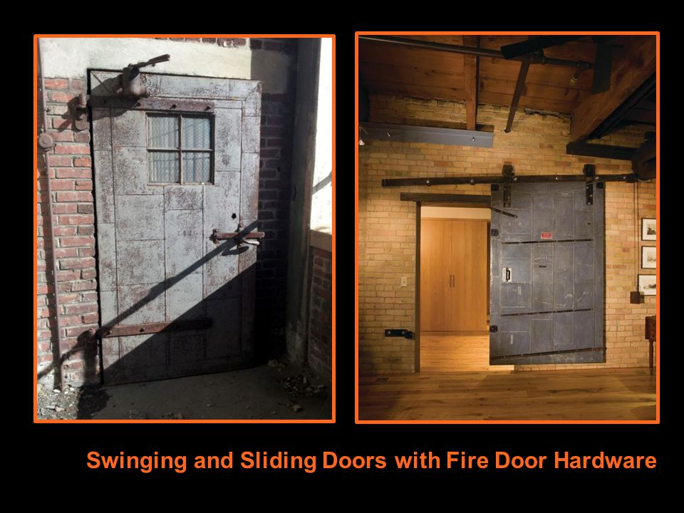 Swinging and Sliding Doors with Fire Door Hardware