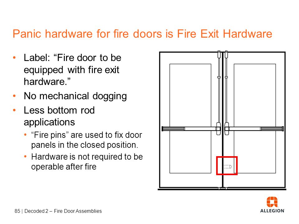 Panic hardware for fire doors is Fire Exit Hardware