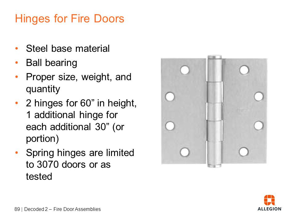Hinges for Fire Doors Steel base material Ball bearing