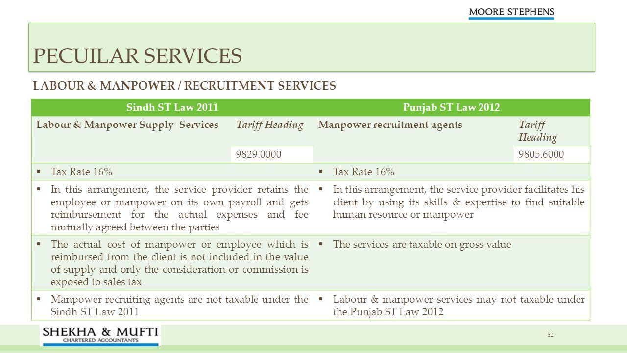 PECUILAR SERVICES LABOUR & MANPOWER / RECRUITMENT SERVICES