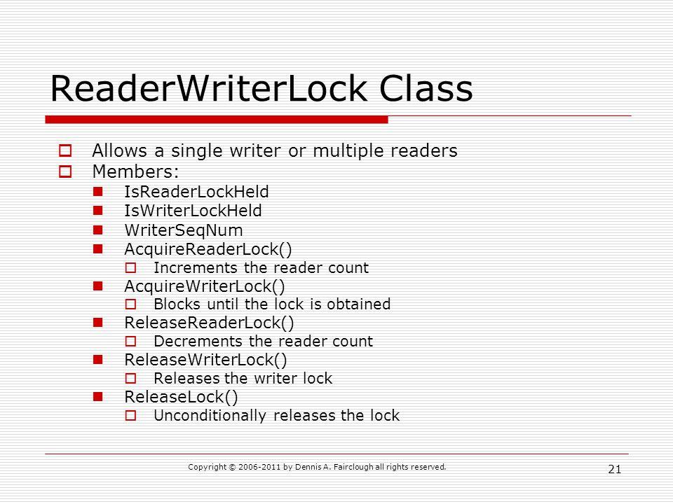 ReaderWriterLock Class