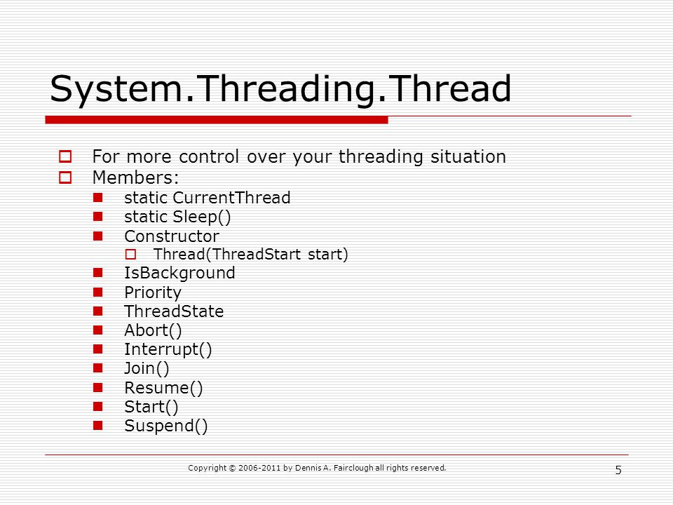 System.Threading.Thread