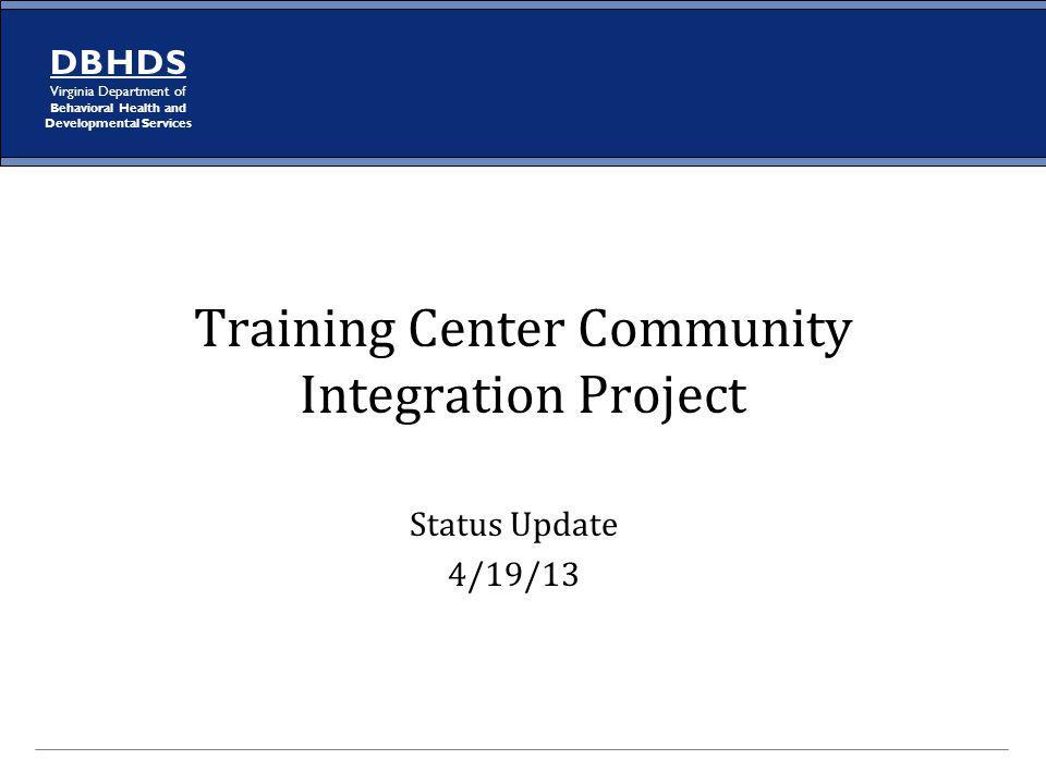 Training Center Community Integration Project
