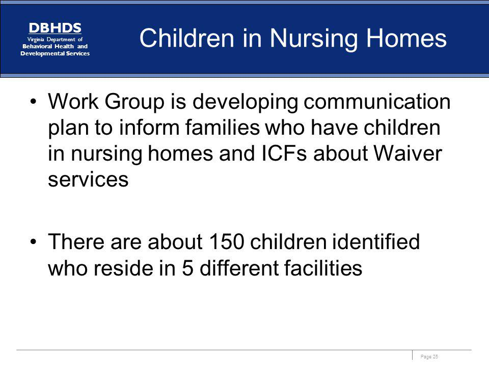Children in Nursing Homes
