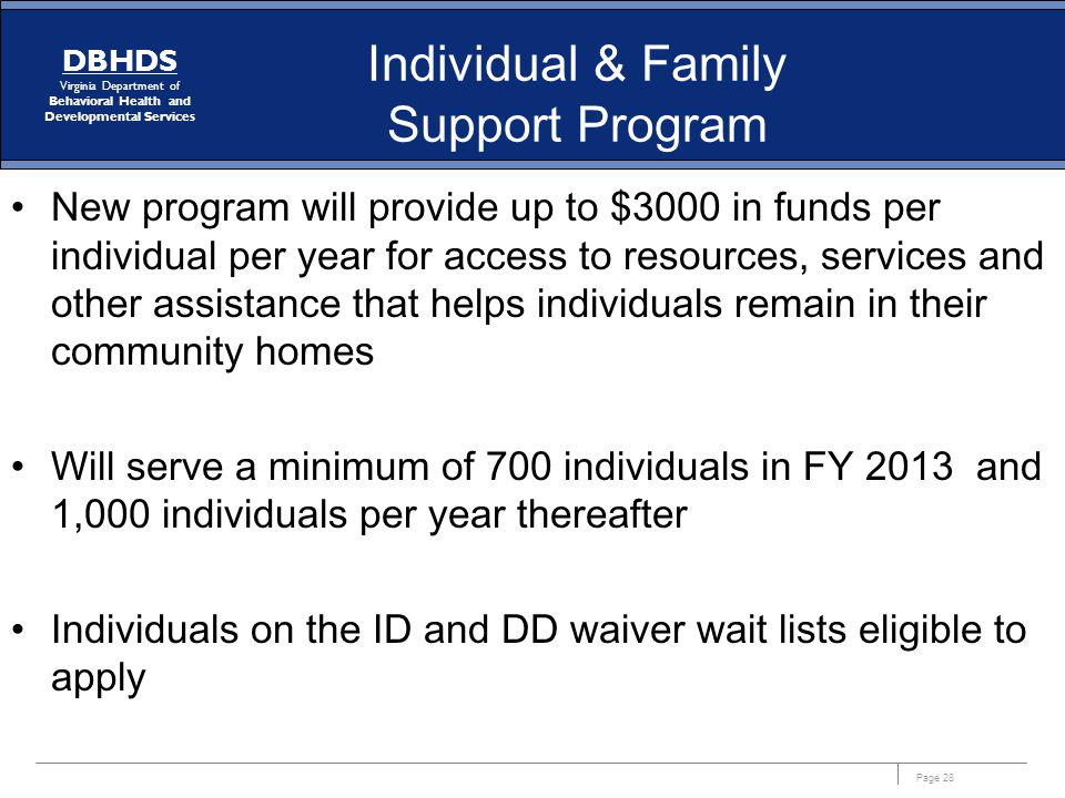 Individual & Family Support Program