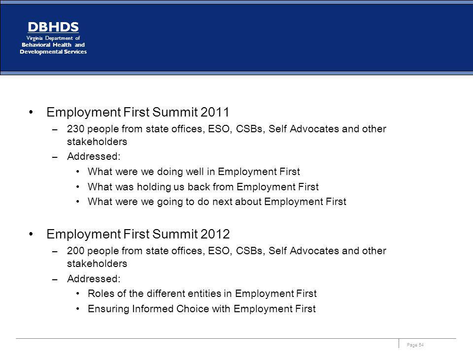 Employment First Summit 2011