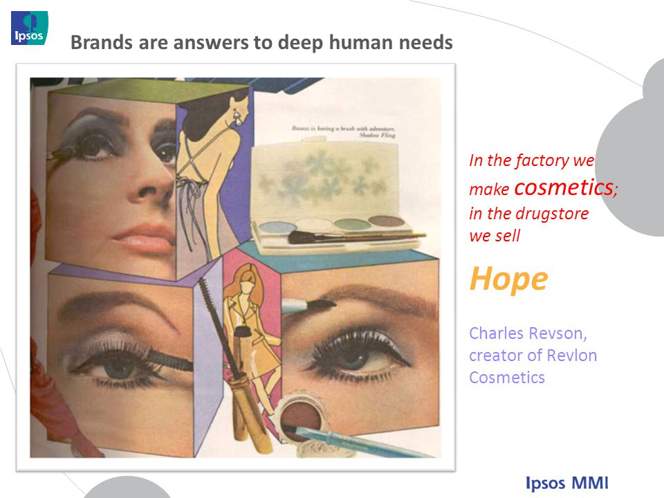 Hope Brands are answers to deep human needs In the factory we